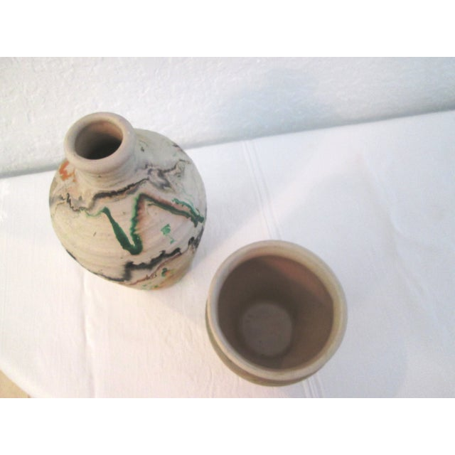 Image of Nemadji Swirl Pottery Vessels - Pair