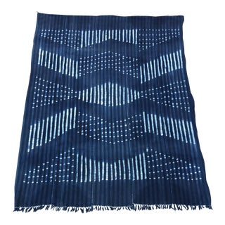 Vintage Indigo African Mud Cloth