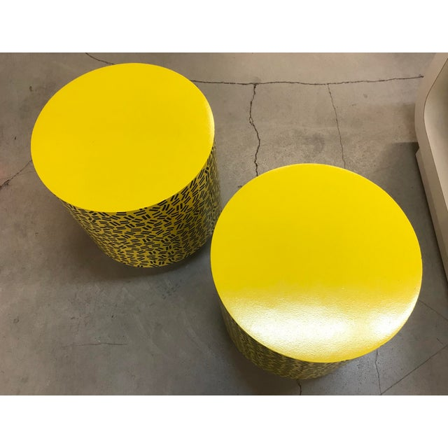 Pop Art Post Modern Cylinder Side Tables -A Pair - Image 4 of 7