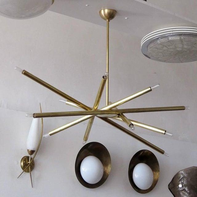 Raw Brass & Spiral Chandelier - Image 4 of 11