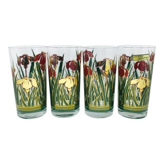 Culver 22K Gold Iris Highballs - Set of 4