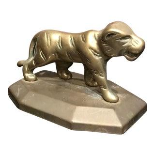Vintage Brass Tiger Paperweight