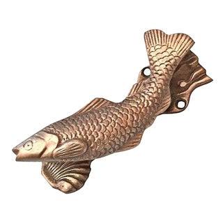 Vintage Brass Leaping Fish Door Knocker