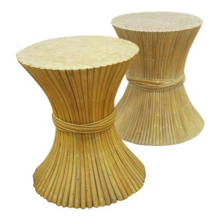 McGuire Rattan Table Bases - Set of 2