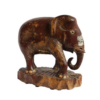Asian Antique Wood Thai Elephant