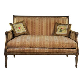 Late 19th Century Louis XVI Style Distressed Settee