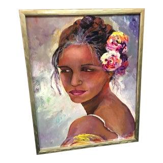 The Spanish Dancer Framed Oil Painting