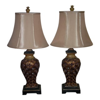 Open Filigree Table Lamps - A Pair