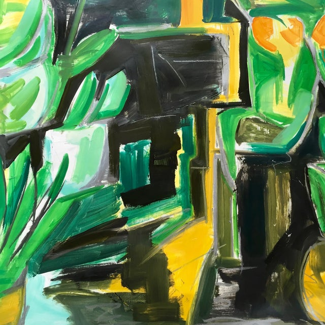 "48""x60"" Abstract ""Village Florist"" by Trixie Pitts - Image 3 of 5"