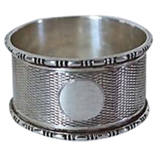 Antique Sterling Silver Napkin Ring, 1903