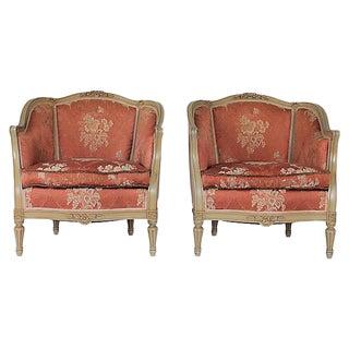 Louis XVI Bergere Chairs - a Pair
