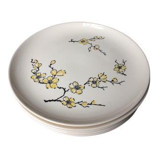 Stetson Yellow Dogwood Dinner Plates - Set of 7