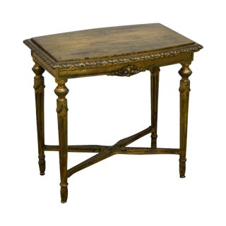 Antique French Louis XVI Style Gold Gilt Side Table