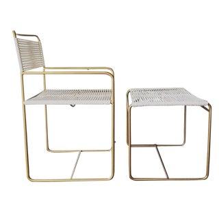 Mid-Century Chair & Ottoman Set