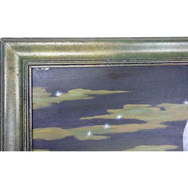 Dramatic Heron Portrait Painting - Image 6 of 6