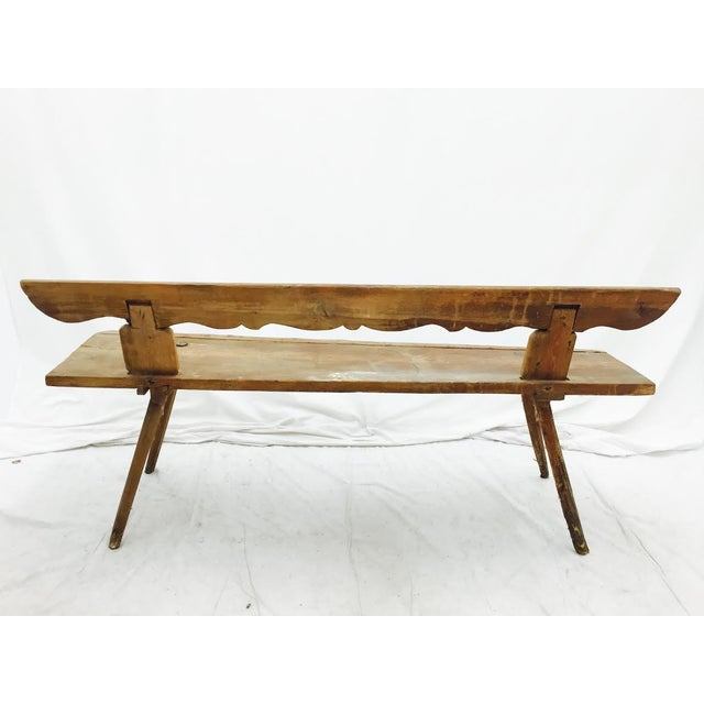 Antique Wooden Farm Bench - Image 10 of 10