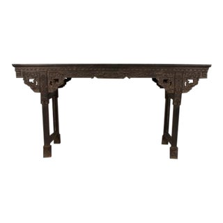 Chinese Hand Made Zitan Wood Painting Table