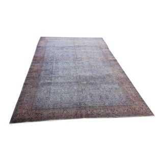 Turkish Distressed Hand Knotted Rug - 6'2 X 9'7