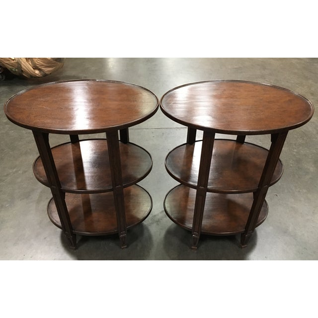 paul ferrante 3 tier etagere side tables pair image 2 of 8 - Paul Ferrante Chandelier