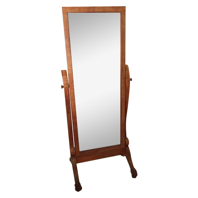 Full Length Antique Cheval Mirror - Image 1 of 8