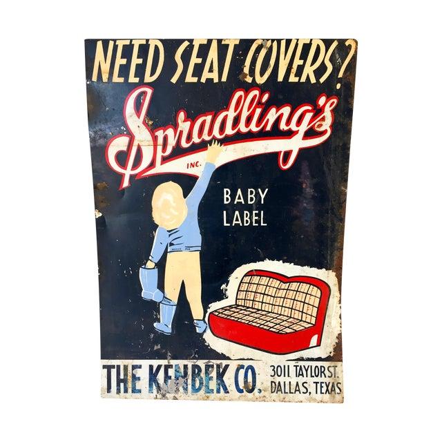 Vintage Spradling's Dallas Texas Trade Sign - Image 1 of 7