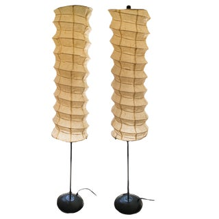 Asian-Inspired Paper Lamps - A Pair
