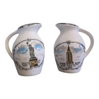 New York Salt & Pepper Shakers - A Pair