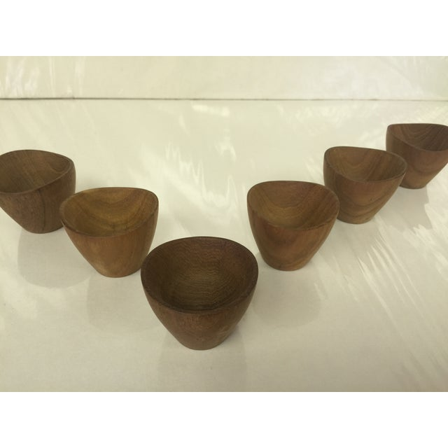 Ernst Henriksen Tiny Danish Teak Bowls - Set of 6 - Image 7 of 11