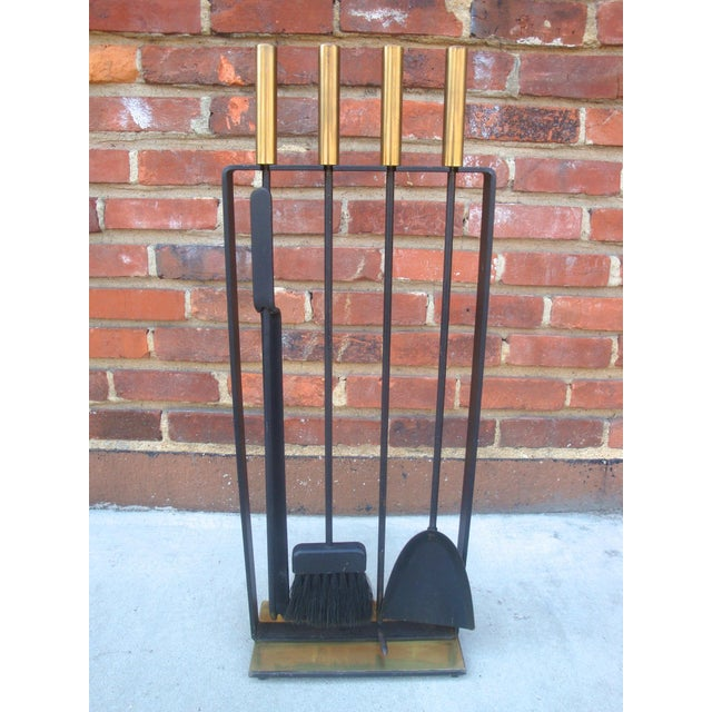 Modernist Fireplace Tool Set & Stand - Set of 5 - Image 2 of 7
