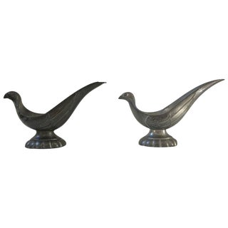 Just Andersen Signed Bird Pipe Holders - A Pair