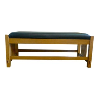 Stickley Mission Oak Spindle Bench