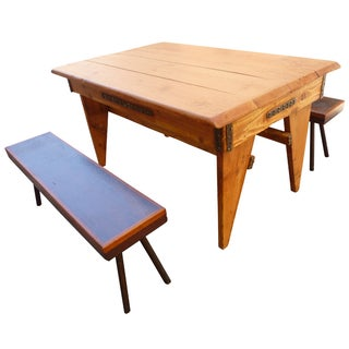 Shajan Table And Two Benches