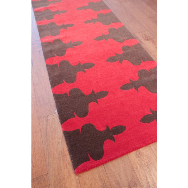 Madeline Weinrib Red Carlotta Wool Rug - 2′6″ × 9′ - Image 4 of 6