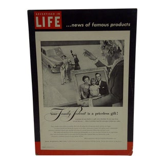C. 1950 Life Magazine Cardboard Advertising Display Sign