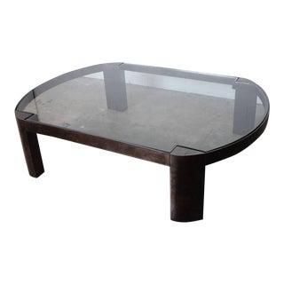 Large Gunmetal Coffee Table by Karl Springer
