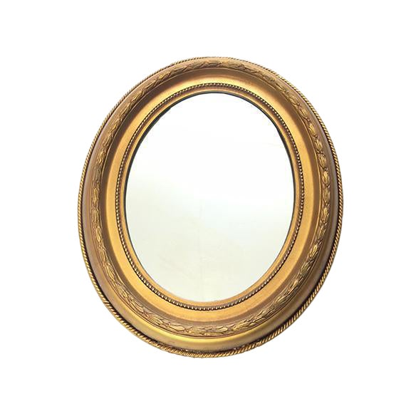 Vintage Hollywood Regency Style Giltwood Oval Mirror - Image 1 of 4