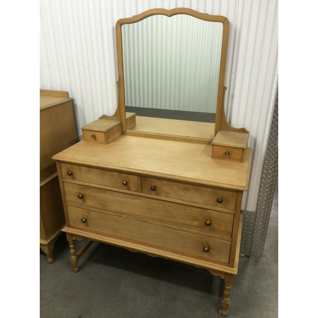 1940's Solid Wood Dresser with Mirror - Image 2 of 9