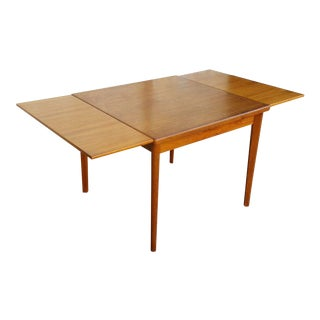 Danish Modern Teak Leaf Dining Table