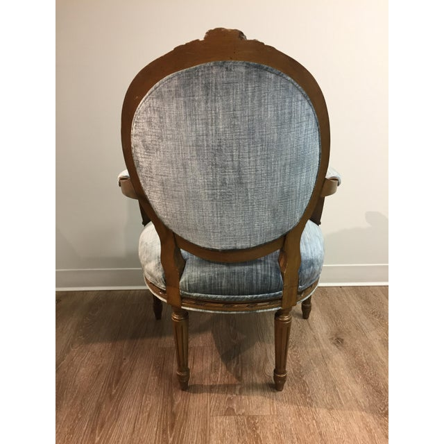 Vintage Louis XIV Fauteuil Chair - Image 3 of 5