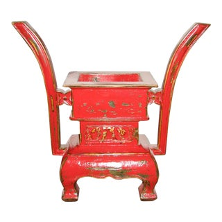 Red Incense Urn