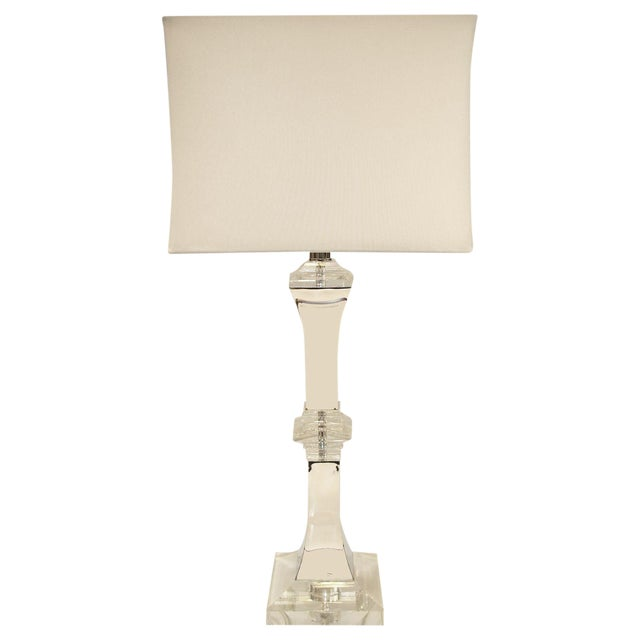 XL Crystal and Chrome Lamp - Image 1 of 5
