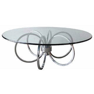 1970s Chrome Ring Coffee Table