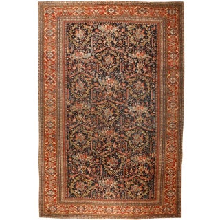 Exceptional Oversize Antique 19th Century Persian Sultanabad Carpet