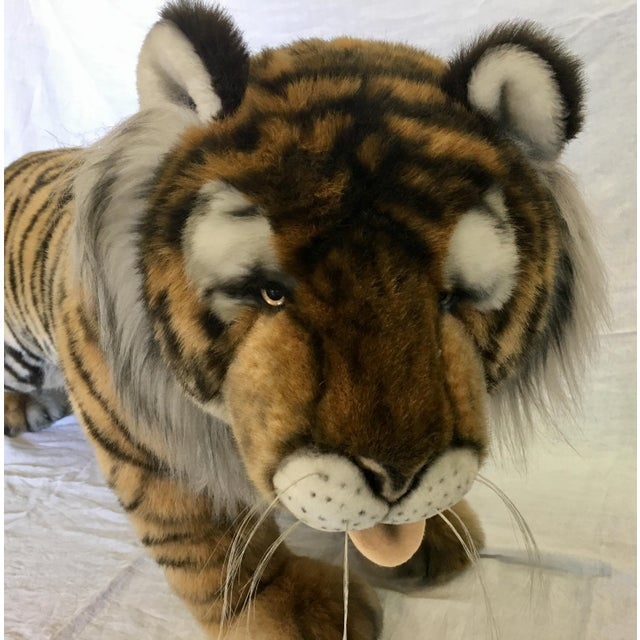 Vintage Nordstrom's Advertising Display Life Sized Plush Tiger - Image 3 of 11