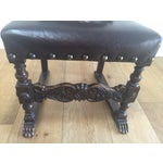 Image of Vintage Baroque Leather Dining Chairs - Set of 6