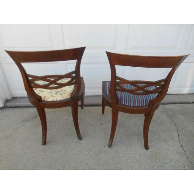 Vintage Baker Furniture Biedermeier Fruitwood Dining Chairs - A Pair - Image 5 of 7