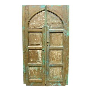 Pair of Antique 19th Century Painted Portons - Large Doors