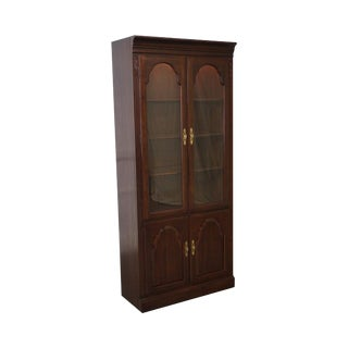 Ethan Allen Georgian Court 2 Door Curio Bookcase