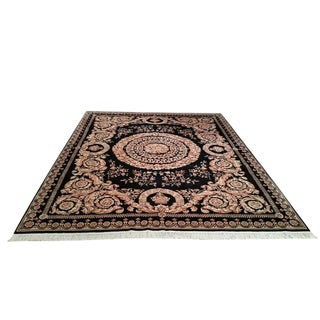 8'x10' Traditional Savonnerie Style Handmade Knotted Rug - Size Cat. 8x10
