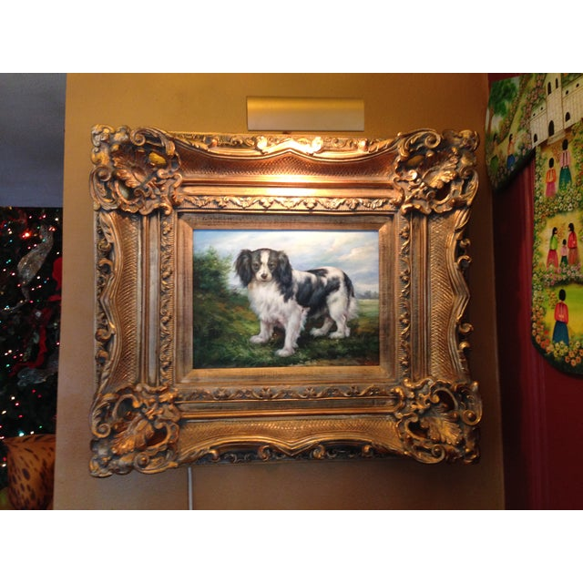 Oil Portrait King Charles Spaniel With Gold Frame Chairish
